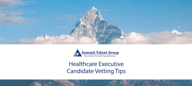 Executive Candidate Resume Vetting for Healthcare