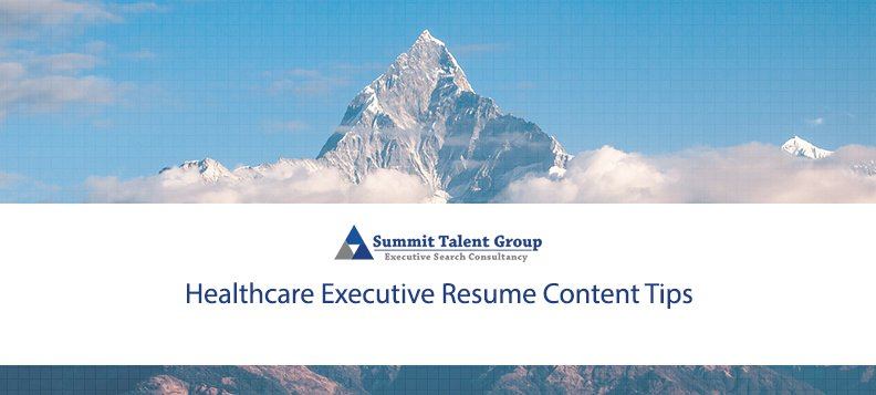 Healthcare Executive Resume Tips