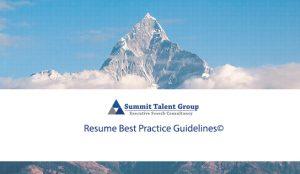 Resume Best Practice Guidelines