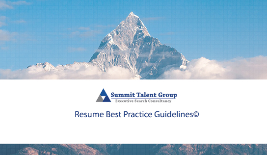 Resume Best Practice Guidelines