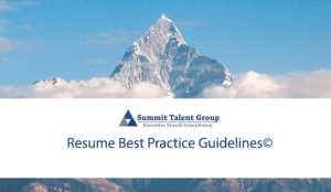 A list of best practice guidelines for executive candidates