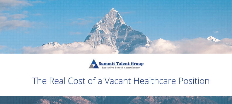Why it is bad to have a vacant healthcare leadership position