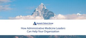 Search firm for administrative services leaders