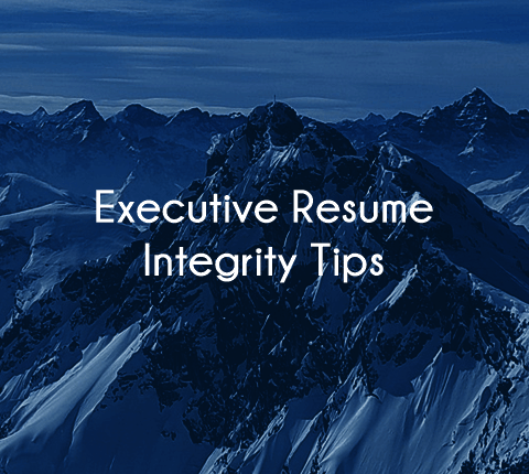 executive resume integrity matters especially in healthcare