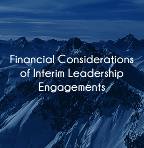 Financial Benefits of Interim Leadership Engagements for hospitals